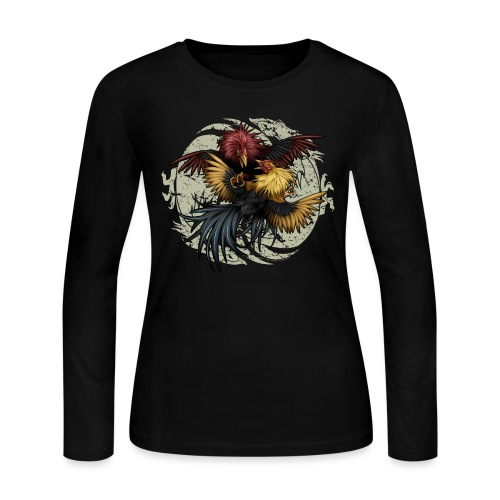 Ying Yang Gallos by Rollinlow - Women's Long Sleeve Jersey T-Shirt