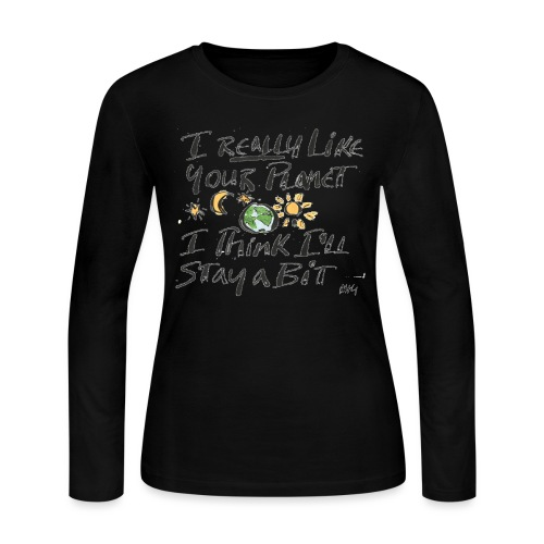 I Really Like your Planet - Women's Long Sleeve Jersey T-Shirt