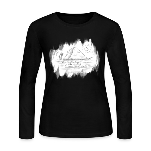 Listen to Classic Rock - Women's Long Sleeve Jersey T-Shirt