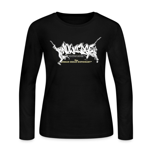 KNOWLEDGE - the urban skillz dictionary - promo sh - Women's Long Sleeve Jersey T-Shirt