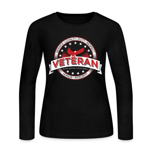 Veteran Soldier Military - Women's Long Sleeve Jersey T-Shirt