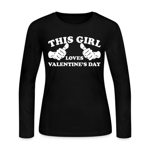 This Girl Loves Valentine's Day - Women's Long Sleeve Jersey T-Shirt