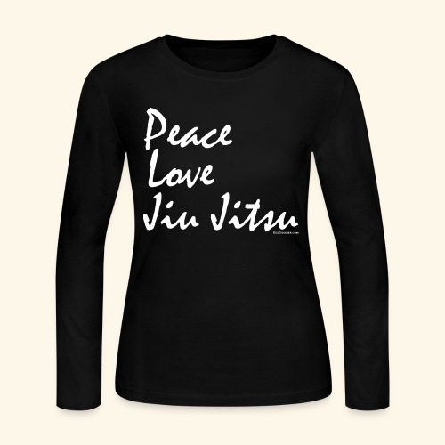 Jiu Jitsu - Peace Love wb - Women's Long Sleeve Jersey T-Shirt