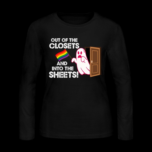 Out of the Closets Pride Ghost - Women's Long Sleeve Jersey T-Shirt