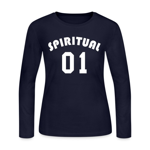 Spiritual 01 - Team Design (White Letters) - Women's Long Sleeve Jersey T-Shirt