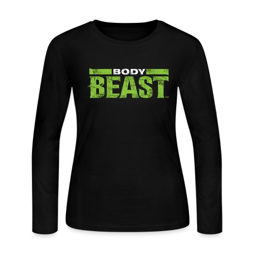 bodybeastblack png - Women's Long Sleeve Jersey T-Shirt