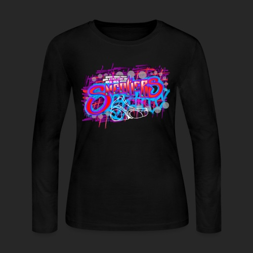 Sneakers Graffiti Design - Women's Long Sleeve Jersey T-Shirt