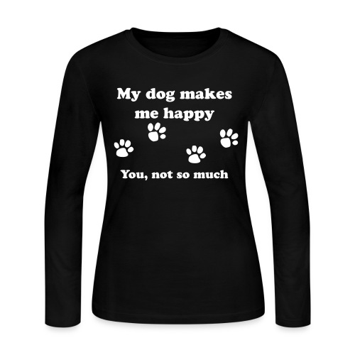 dog_happy - Women's Long Sleeve Jersey T-Shirt