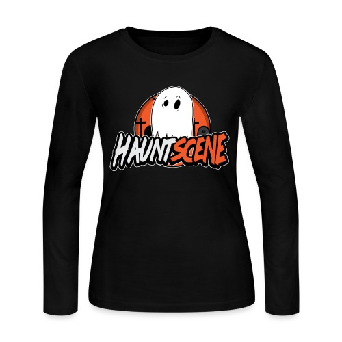 HauntScene Modern Logo 2020 - Women's Long Sleeve Jersey T-Shirt