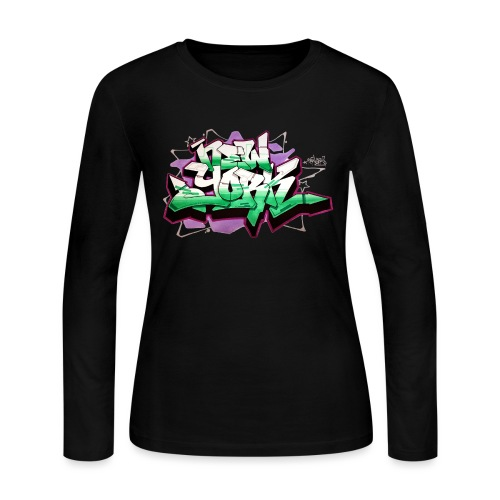 RANGE - Design for New York Graffiti Color Logo - Women's Long Sleeve Jersey T-Shirt