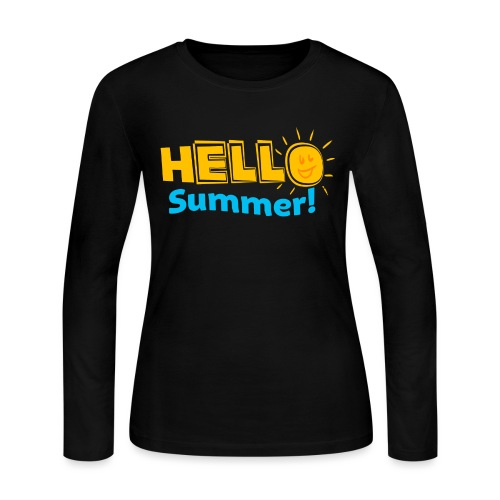 Kreative In Kinder Hello Summer! - Women's Long Sleeve Jersey T-Shirt
