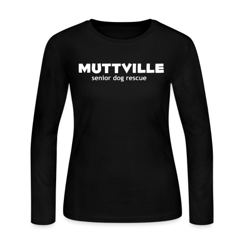 muttville wht - Women's Long Sleeve Jersey T-Shirt