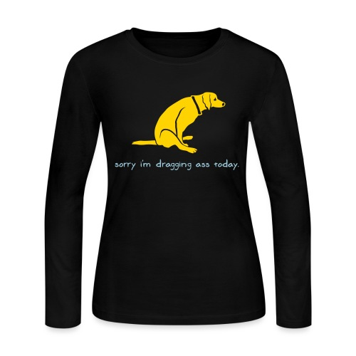 Dragging Ass - Women's Long Sleeve Jersey T-Shirt