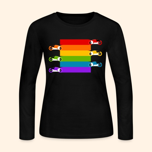 Pride on the Game Grid - Women's Long Sleeve Jersey T-Shirt
