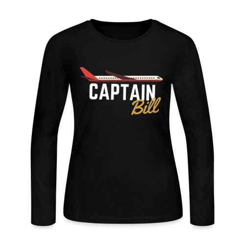 Captain Bill Avaition products - Women's Long Sleeve Jersey T-Shirt