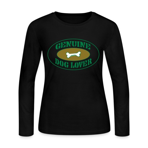 Genuine Dog Lover - Women's Long Sleeve Jersey T-Shirt
