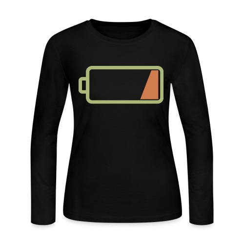 Silicon Valley - Low Battery - Women's Long Sleeve Jersey T-Shirt