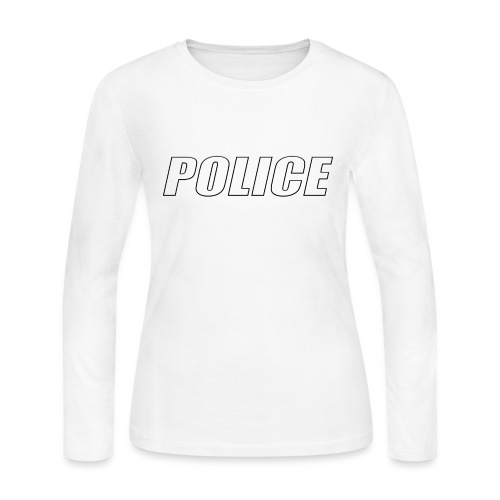 Police White - Women's Long Sleeve Jersey T-Shirt