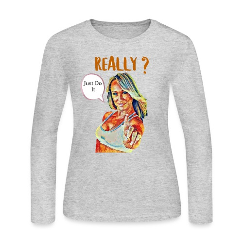 Melissa Zimmerman fan art - Women's Long Sleeve Jersey T-Shirt