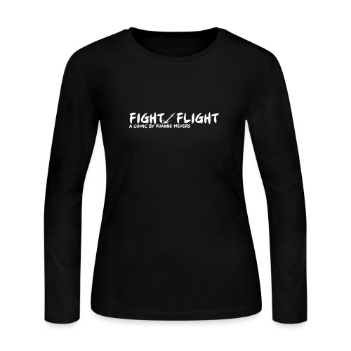 Fight/Flight Logo - Women's Long Sleeve Jersey T-Shirt