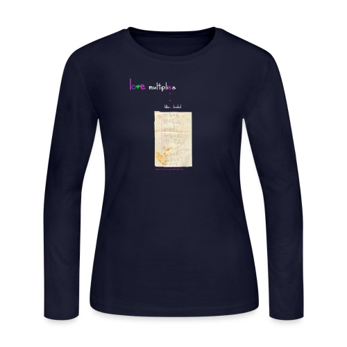 LovMultipliesEvenWhnDiv™© - Women's Long Sleeve Jersey T-Shirt