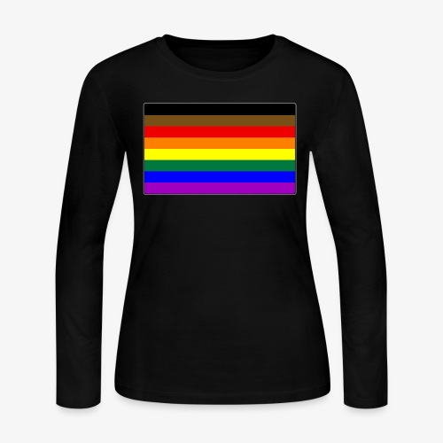 Philly LGBTQ Gay Pride Flag - Women's Long Sleeve Jersey T-Shirt