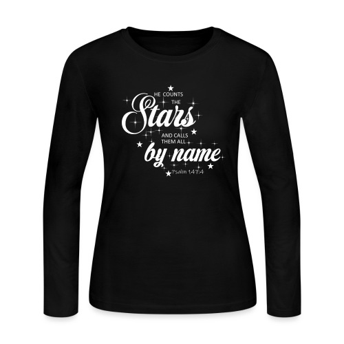 Psalm 147:4 - Women's Long Sleeve Jersey T-Shirt