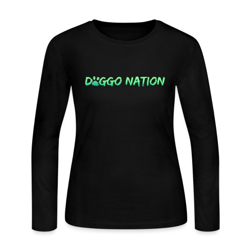 DoggoNation Logo - Women's Long Sleeve Jersey T-Shirt