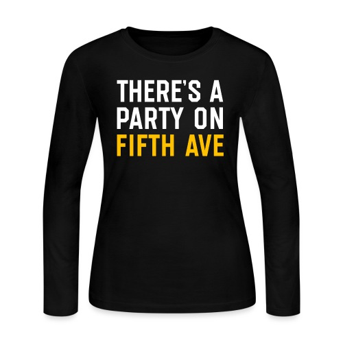 There's a Party on Fifth Ave - Women's Long Sleeve Jersey T-Shirt