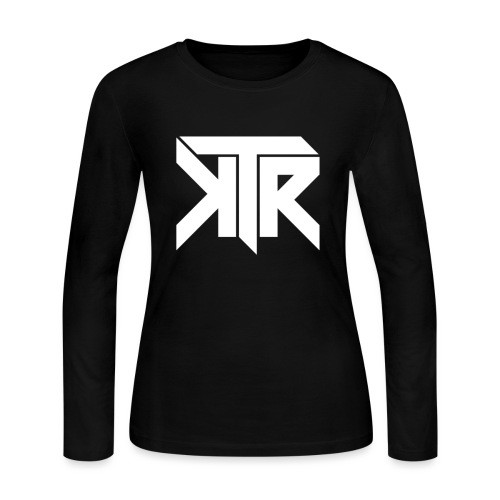KTR Logo White - Women's Long Sleeve Jersey T-Shirt
