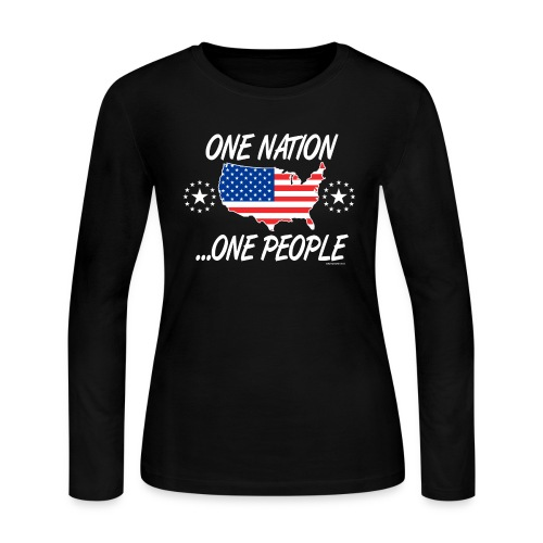 One Nation One People 2012 FRONT TRANSPARENT BACKG - Women's Long Sleeve Jersey T-Shirt