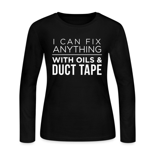 Oils And Duct Tape (Black Font) - Women's Long Sleeve Jersey T-Shirt