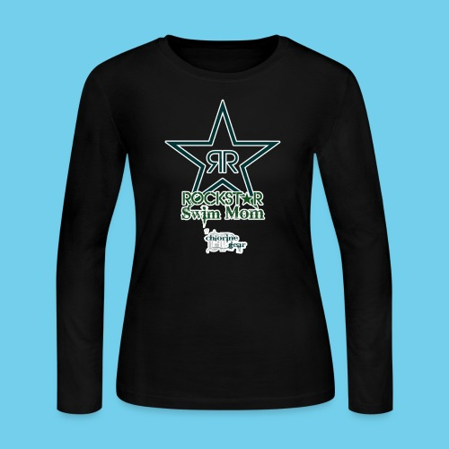 Rockstar Swim Mom - Women's Long Sleeve Jersey T-Shirt