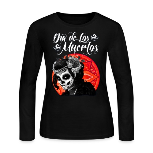 Dia de Los Muertos 01 - Women's Long Sleeve Jersey T-Shirt