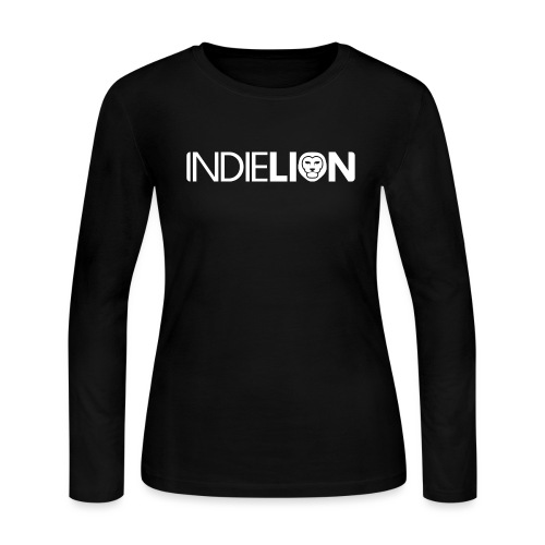 IndieLion textlogo white 01 png - Women's Long Sleeve Jersey T-Shirt