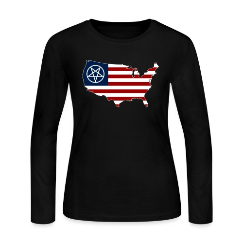 United Satanic America - Women's Long Sleeve Jersey T-Shirt
