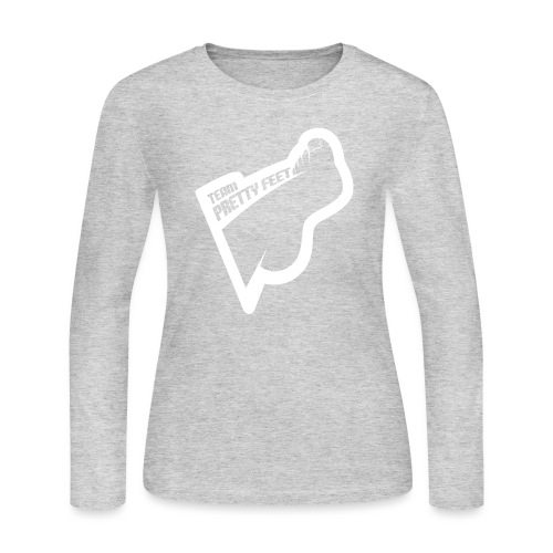 TEAM PRETTY FEET White Foot Logo - Women's Long Sleeve Jersey T-Shirt