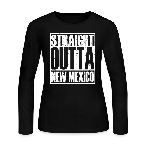 Straight Outta New Mexico - Women's Long Sleeve Jersey T-Shirt