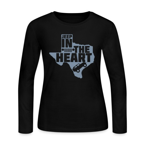 Jeep in the heart of Texas - Women's Long Sleeve Jersey T-Shirt