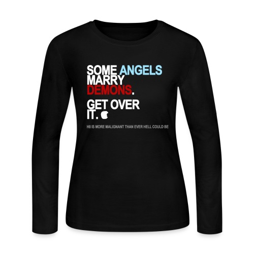 some angels marry demons black shirt - Women's Long Sleeve Jersey T-Shirt