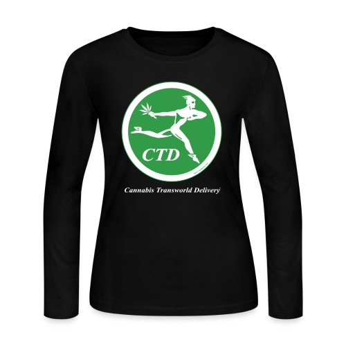 Cannabis Transworld Delivery - Green-White - Women's Long Sleeve Jersey T-Shirt