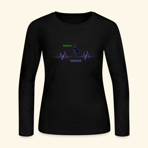 heartbeatdancer1 - Women's Long Sleeve Jersey T-Shirt