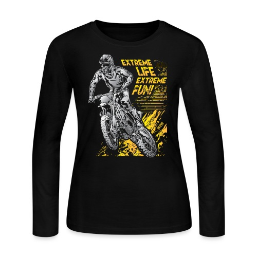 Extreme Life Motorcycle - Women's Long Sleeve Jersey T-Shirt