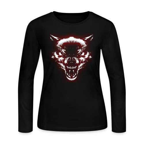 Angry Wolf - Women's Long Sleeve Jersey T-Shirt