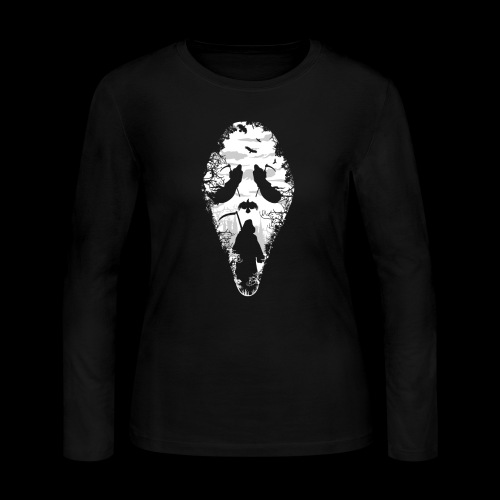 Reaper Screams | Scary Halloween - Women's Long Sleeve Jersey T-Shirt