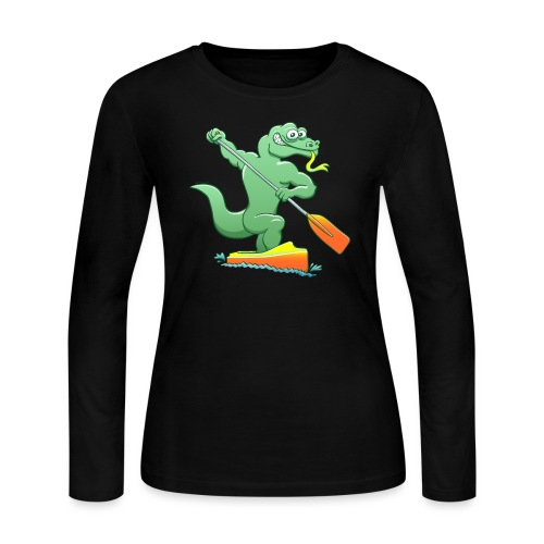 Water Monitor Competing in a Canoe Sprint Event - Women's Long Sleeve Jersey T-Shirt