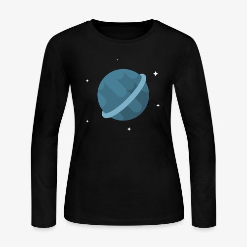 Tiny Blue Planet - Women's Long Sleeve Jersey T-Shirt