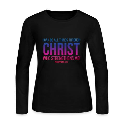 I Can Do All Things Thriugh CHRIST, Christian, God - Women's Long Sleeve Jersey T-Shirt
