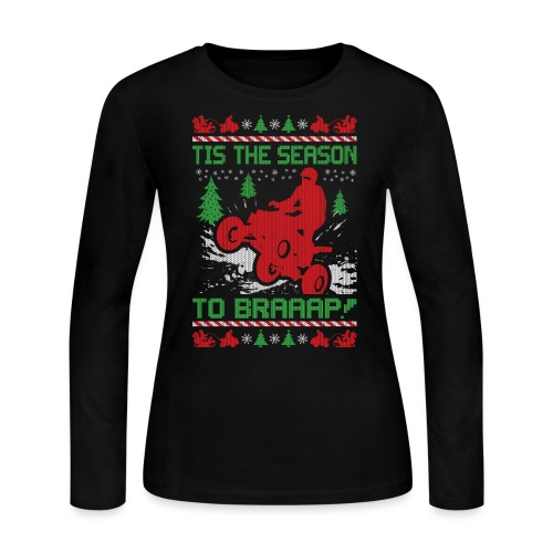 ATV Quad Christmas - Women's Long Sleeve Jersey T-Shirt