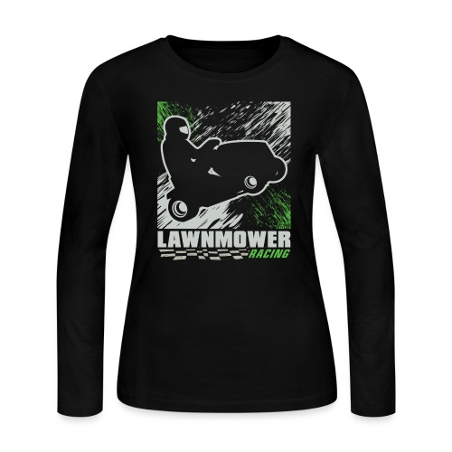 Lawnmower Racing Abstract - Women's Long Sleeve Jersey T-Shirt